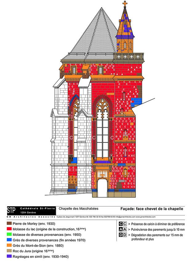 plan architecture colorisation chapelle genève